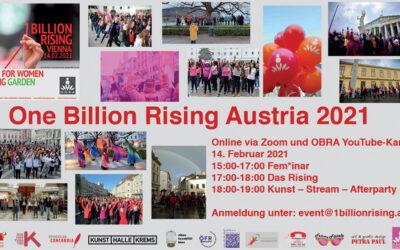 Einladung zu One Billion Rising Austria 2021